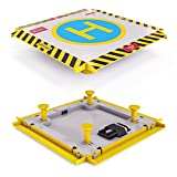Remote Control Helicopter Landing Pad – Complete Edition – LED Lights Installed – Suitable for RC Helicopters, Quadcopters, Drones, Syma Helicopters