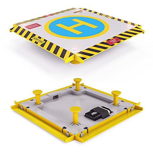Remote Control Helicopter Landing Pad - Popular Christmas Gift - LED Lights Installed - Suitable for RC Helicopters, Quadcopters, Drones, Syma Helicopters (Mini Rc Helicopter Blades compare prices)