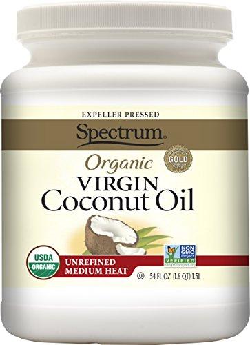 Spectrum Organic Virgin Coconut Oil, Unrefined, 54 Ounce (Hydrogenated Oil compare prices)
