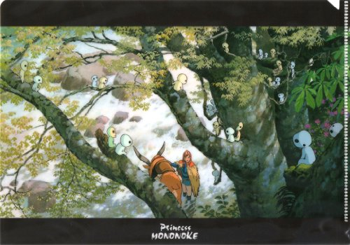 [Forest Dwells Kodama] Princess Mononoke A5 Clear File Name Scene Series