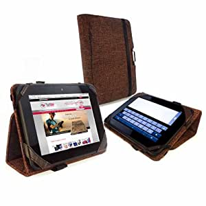 """Tuff-Luv Type-View Clean-Pad case cover (inc Sleep function) for Kindle Fire HD 7"""" / Nook 7 HD Hemp - Brown"""