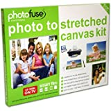 Photofuse Create Your Own Canvas Print - Photo to Stretched Canvas Kit - Make Your Own Canvas Prints in Minutesby Photofuse