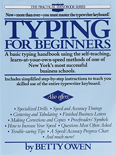Typing for Beginners: A Basic Typing Handbook Using the Self-Teaching, Learn-at-Your-Own-Speed Methods of One of New York's Most Successful Business Schools (Practical Handbook (Perigee Book)) (Beginner Typing compare prices)