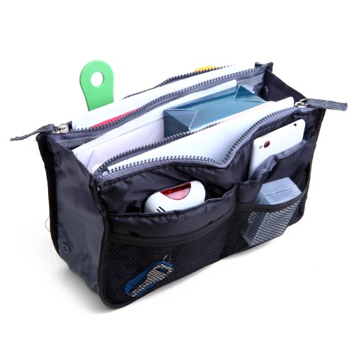 HDE Expandable Handbag Insert Purse Organizer with Handles (Black) (In Purse Organizer compare prices)