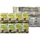 Premium Roasted Seaweed Snack(Green Laver) - Pack of 8