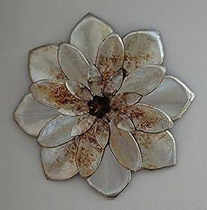 Silver & Bronze Metal 'Chrysanthemum' Wall Art - Small