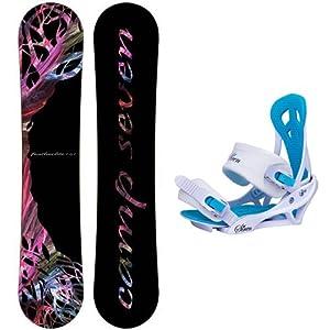 Buy Camp Seven Featherlite Ladies Snowboard Package + Siren Mystic Bindings by Camp Seven