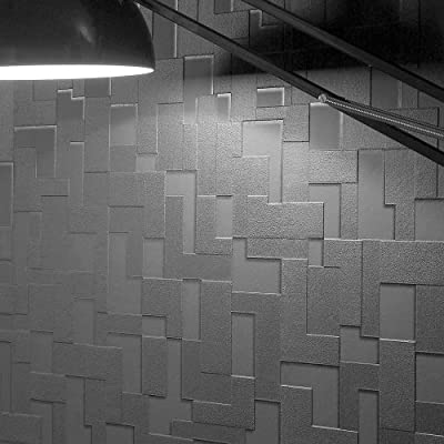 3D Block Brick Wallpaper |Black Colour