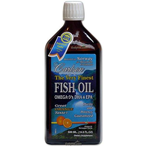 Carlson the very finest fish oil liquid omega 3 orange for Omega 3 fish oil liquid