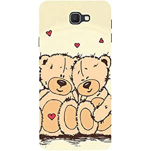 Casotec Teddy Bear Love Design 3D Printed Hard Back Case Cover for Samsung Galaxy J7 Prime