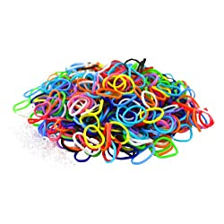 [Best price] Arts & Crafts - Colorful Silicone LOOM BANDS - 600 Bands & 25