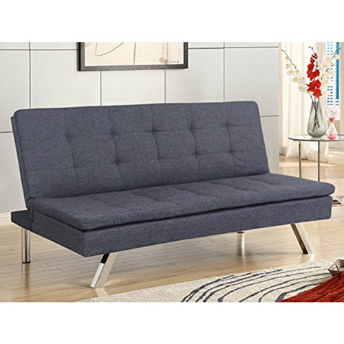 Primo International DJ Jive Klik-Klak Convertible Sofa Bed, Grey Tweed