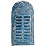Esschert Design WD13 Mirror Louvre Distressed, Blue Finish