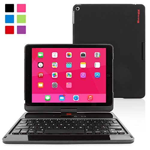 iPad Air 360 Rotatable Keyboard Case, SnuggTM - Ultra Slim Keyboard Cover Case with Bluetooth Connectivity For Apple iPad Air (Black)