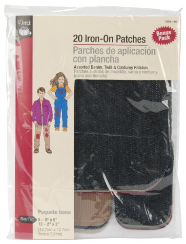 Find Cheap Dritz 55801-66 Iron-On Patches, Assorted, 20-Pack