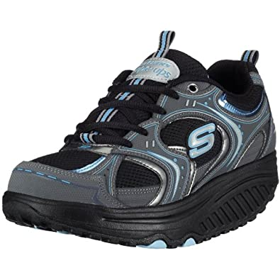 Skechers Shape-Ups - Action Packed - Chaussures bien-être femme - Noir - Bleu - 36 EU