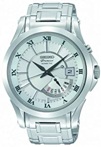 Seiko Premier Kinetic Perpetual Calendar Mens Watch SNP001