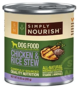 Simply Nourish Chicken & Rice Stew 10.05 Ounces Grain Free Dog Food (Pack of 12)