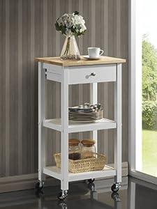 Amazon Com Roundhill Furniture Wood Kitchen Cart On