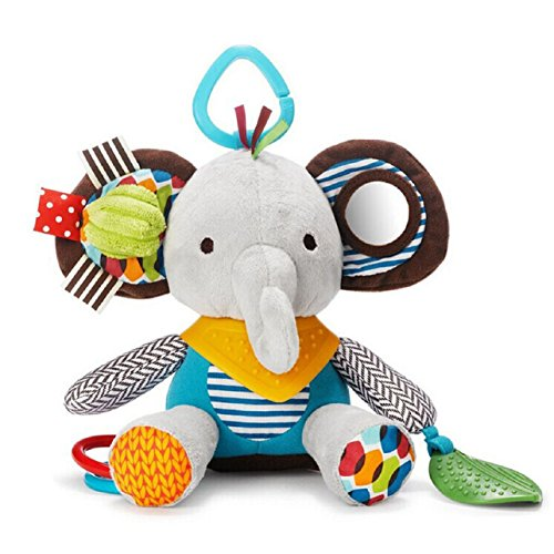 Sandistore Baby Kids Car Rattle Multicolor Bed Hanging Toy (Elephant)