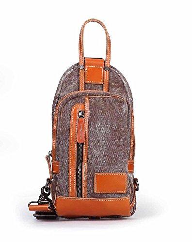 Bag petto maschile/Borsa di tela casual/Borsa a tracolla Messenger/Borsa vintage/Più energia cinetica borse-D