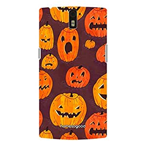 HomeSoGood Halloween Night Pattern Brown 3D Mobile Case For OnePlus One (Back Cover)