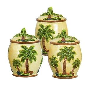 Palm Tree 3pc Ceramic Set Decorating Spatulas