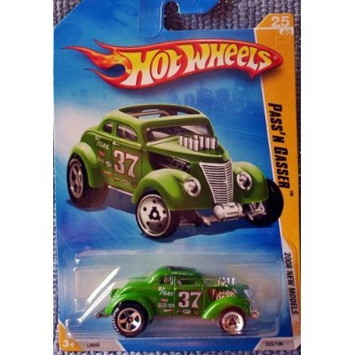 Hot Wheels 2008 New Models PASS 'N GASSER Green 25/40 1:64 Scale - 1