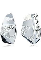 Vince Camuto Silver Angular Hoop Earrings
