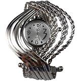 BestOfferBuy Women Elegant Wave Bangle Cuff Bracelet Wrist Watch