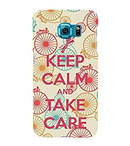 Take Care 3D Hard Polycarbonate Designer Back Case Cover for Samsung Galaxy S6 :: Samsung Galaxy S6 G920