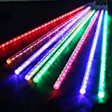 AGPtek 50cm 8 Tube 240 LEDs RGB Multi-color Meteor Shower Rain Lights Waterproof String for Wedding Party Christmas Xmas Decoration Tree