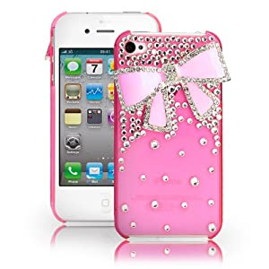 Amazon.com: Fosmon 3D Bling Crystal Design Case with Pink