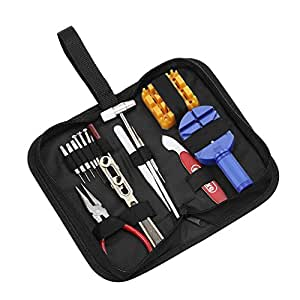 eSecure 16 Piece Watch Repair Tool Kit Set Pin & Back Remover