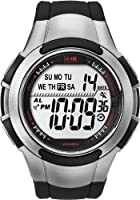 Timex Men's T5K237 1440 Sports Digital Full-Size Black/Silver-Tone Resin Strap Watch from Timex
