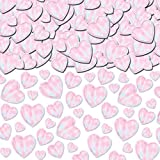 Iridescent Metallic Hearts Confetti | Party Decor