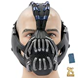 TDKR Batman Bane Mask Replica with Voice Changer Newest Version for Halloween Costume Cosplay 2013 Coslive