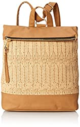 POVERTY FLATS by rian Woven Backpack, Natural, One Size