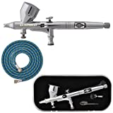 Master Airbrush Model G44 High Precision Detail Control Dual-Action Gravity Feed Airbrush with Free 6 Foot Air Hose. Now Included Is a (FREE) How to Airbrush Training Book to Get You Started, Published Exclusively By TCP Global.