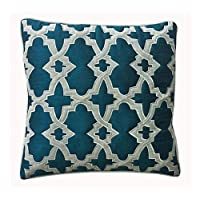 Ultra-Snob Casablanca Small Square Faux Dupion Cushion Cover Teal