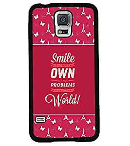 Fuson 2D Printed Quotes Designer back case cover for Samsung Galaxy S5 Mini - D4276