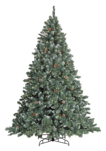 GKI/Bethlehem Lighting Pre-Lit 7-1/2 Foot Glacier Christmas Tree with Pinecones with 700 frosted  sc 1 st  Christmas Trees - Blogger & Christmas Trees: GKI/Bethlehem Lighting Pre-Lit 7-1/2 Foot Glacier ...