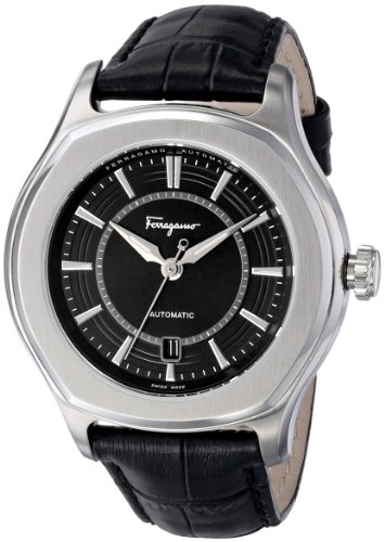 Ferragamo Men's Stainlesss Steel Lungarno Leather Automatic Selfwind Wristwatch