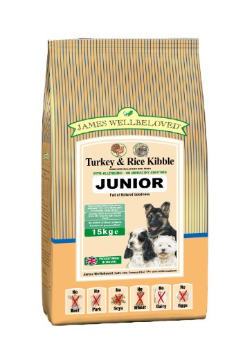 James Wellbeloved Junior Turkey and Rice Kibble 15 kg