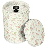 9cm Colorful Set Coffee Tea Sugar Canisters Kitchen Double Cover Food Storage Tin - Pink, Standard
