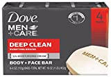 Dove Men+Care Body + Face Bar, Deep Clean 4 oz, 4 Bar