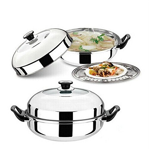 Stainless Steel Multifunction Soup Pot Milk Pot Steamer front-212301
