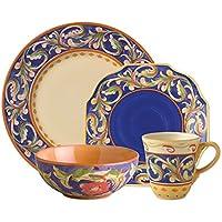 Pfaltzgraff Villa Della Luna 32 Piece Blue Dinnerware Set