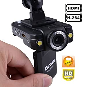 Rando HD Mini Car DVR Video Camera Recorder 2-inch LCD w/ HDMI Cable built-in Microphone from Rando