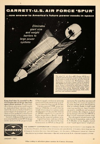 1962 Ad Garrett Corp AiResearch US Air Force AEC Spur - Original Print Ad